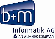 Logo der b+m Informatik AG: b+m Informatik AG - An Allgeier Company